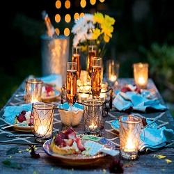O cină la lumina lumânărilor